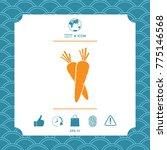 carrots symbol icon | Shutterstock .eps vector #775146568