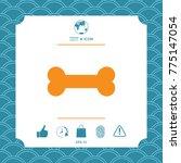 bone symbol icon | Shutterstock .eps vector #775147054