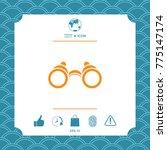 binoculars symbol icon | Shutterstock .eps vector #775147174