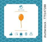balloon symbol icon | Shutterstock .eps vector #775147288