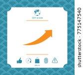 arrow icon   up | Shutterstock .eps vector #775147540