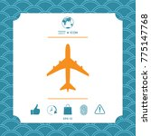 airplane icon symbol | Shutterstock .eps vector #775147768