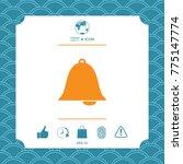 alarm bell symbol icon | Shutterstock .eps vector #775147774