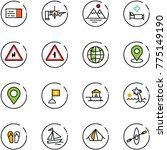 line vector icon set   ticket... | Shutterstock .eps vector #775149190