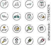 line vector icon set   power... | Shutterstock .eps vector #775149274