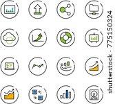 line vector icon set  ... | Shutterstock .eps vector #775150324