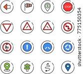 line vector icon set   left... | Shutterstock .eps vector #775150354