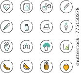 line vector icon set   heart... | Shutterstock .eps vector #775150378