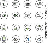 line vector icon set   pound... | Shutterstock .eps vector #775151074