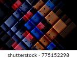 color arrows on black... | Shutterstock .eps vector #775152298