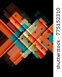 color arrows on black... | Shutterstock .eps vector #775152310