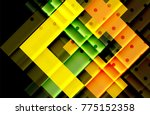 color arrows on black... | Shutterstock .eps vector #775152358