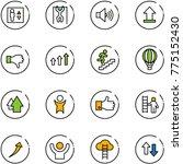 line vector icon set   elevator ... | Shutterstock .eps vector #775152430