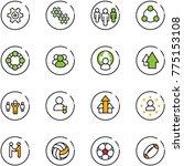 line vector icon set   gear... | Shutterstock .eps vector #775153108