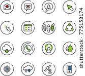 line vector icon set   star... | Shutterstock .eps vector #775153174
