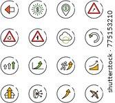 line vector icon set   left... | Shutterstock .eps vector #775153210