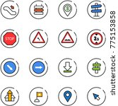 line vector icon set  ... | Shutterstock .eps vector #775153858