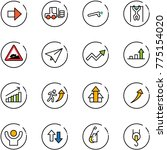 line vector icon set   right... | Shutterstock .eps vector #775154020