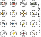 line vector icon set   plate... | Shutterstock .eps vector #775154620