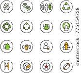 line vector icon set   gear... | Shutterstock .eps vector #775154728