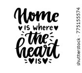 vector poster with phrase and... | Shutterstock .eps vector #775155574