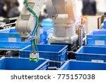industry 4.0 robot concept .the ... | Shutterstock . vector #775157038