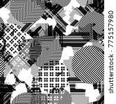 seamless pattern ethnic design. ... | Shutterstock . vector #775157980