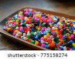 ironing beads for craft  hama...   Shutterstock . vector #775158274