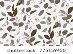 seamless pattern with... | Shutterstock .eps vector #775159420