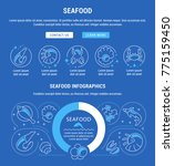 line illustration of seafood.... | Shutterstock .eps vector #775159450