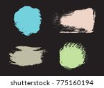 vector grunge shapes.grunge... | Shutterstock .eps vector #775160194