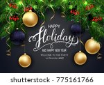 holidays greeting card for...   Shutterstock .eps vector #775161766