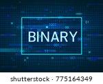 blue screen computer binary code | Shutterstock . vector #775164349