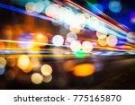 abstract blur city night... | Shutterstock . vector #775165870