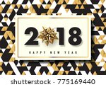 2018 happy new year vector... | Shutterstock .eps vector #775169440