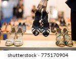 fashion shopping footwear store ... | Shutterstock . vector #775170904