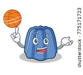 with basketball jelly character ... | Shutterstock .eps vector #775171723