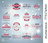 christmas typogaphic vintage...   Shutterstock .eps vector #775176964