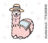 vector illustration of cute... | Shutterstock .eps vector #775180840