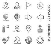 thin line icon set   pointer ... | Shutterstock .eps vector #775192780