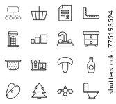 thin line icon set   structure  ... | Shutterstock .eps vector #775193524