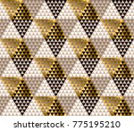 abstract gold and black luxury... | Shutterstock .eps vector #775195210
