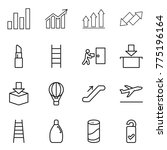 thin line icon set   graph ... | Shutterstock .eps vector #775196164