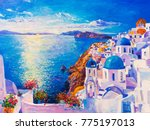 original oil painting on canvas.... | Shutterstock . vector #775197013