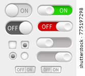 switch slider buttons. radio... | Shutterstock .eps vector #775197298