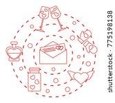 romantic symbols arranged in a... | Shutterstock .eps vector #775198138