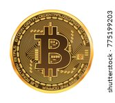 crypto currency golden coin... | Shutterstock .eps vector #775199203