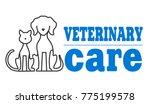 veterinary symbol of pets. | Shutterstock . vector #775199578