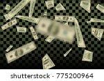 flying us dollars pattern.... | Shutterstock .eps vector #775200964