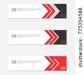 banner red background.template... | Shutterstock .eps vector #775204588